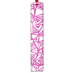 Conversational Triangles Pink White Large Book Marks