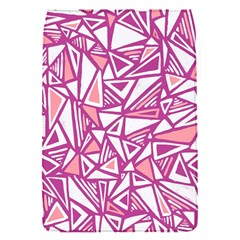 Conversational Triangles Pink White Flap Covers (s)