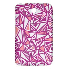Conversational Triangles Pink White Samsung Galaxy Tab 3 (7 ) P3200 Hardshell Case