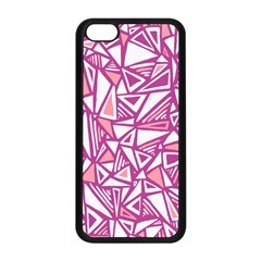Conversational Triangles Pink White Apple Iphone 5c Seamless Case (black)