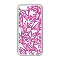 Conversational Triangles Pink White Apple Iphone 5c Seamless Case (white)