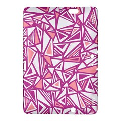 Conversational Triangles Pink White Kindle Fire Hdx 8 9  Hardshell Case