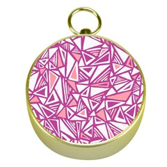 Conversational Triangles Pink White Gold Compasses