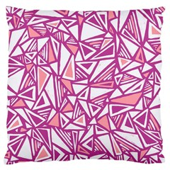 Conversational Triangles Pink White Standard Flano Cushion Case (two Sides)