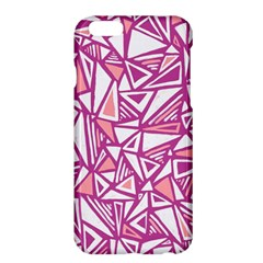 Conversational Triangles Pink White Apple Iphone 6 Plus/6s Plus Hardshell Case