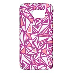 Conversational Triangles Pink White Galaxy S6