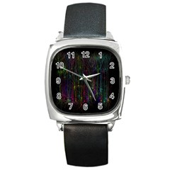 Brain Cell Dendrites Square Metal Watch
