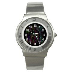 Brain Cell Dendrites Stainless Steel Watch