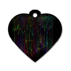 Brain Cell Dendrites Dog Tag Heart (one Side)