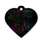 Brain Cell Dendrites Dog Tag Heart (One Side) Front