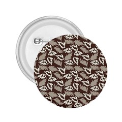 Dried Leaves Grey White Camuflage Summer 2 25  Buttons