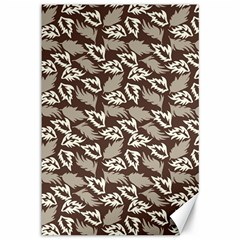 Dried Leaves Grey White Camuflage Summer Canvas 12  X 18