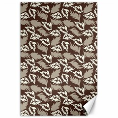 Dried Leaves Grey White Camuflage Summer Canvas 20  X 30