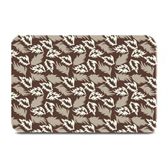 Dried Leaves Grey White Camuflage Summer Plate Mats
