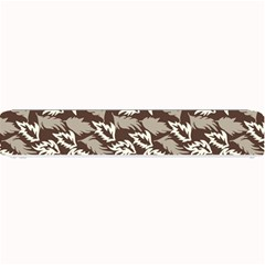 Dried Leaves Grey White Camuflage Summer Small Bar Mats
