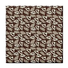 Dried Leaves Grey White Camuflage Summer Face Towel