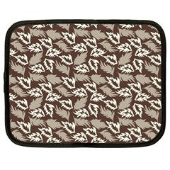 Dried Leaves Grey White Camuflage Summer Netbook Case (xl)
