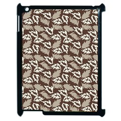 Dried Leaves Grey White Camuflage Summer Apple Ipad 2 Case (black)