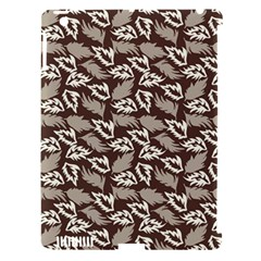 Dried Leaves Grey White Camuflage Summer Apple Ipad 3/4 Hardshell Case (compatible With Smart Cover)