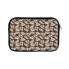 Dried Leaves Grey White Camuflage Summer Apple Ipad Mini Zipper Cases