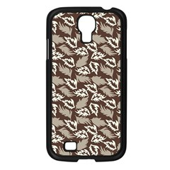 Dried Leaves Grey White Camuflage Summer Samsung Galaxy S4 I9500/ I9505 Case (black)