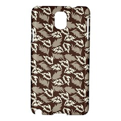 Dried Leaves Grey White Camuflage Summer Samsung Galaxy Note 3 N9005 Hardshell Case