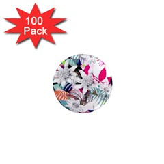 Flower Graphic Pattern Floral 1  Mini Magnets (100 Pack)
