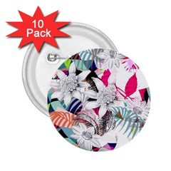 Flower Graphic Pattern Floral 2 25  Buttons (10 Pack)