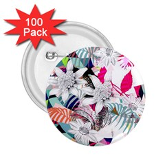 Flower Graphic Pattern Floral 2 25  Buttons (100 Pack)