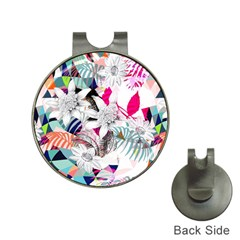 Flower Graphic Pattern Floral Hat Clips With Golf Markers