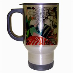 Flower Graphic Pattern Floral Travel Mug (silver Gray)