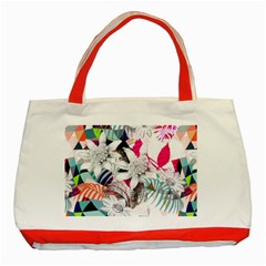 Flower Graphic Pattern Floral Classic Tote Bag (red)