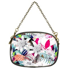 Flower Graphic Pattern Floral Chain Purses (one Side)