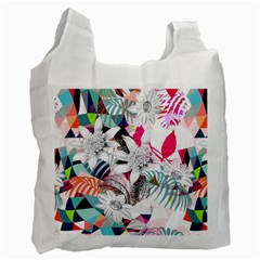Flower Graphic Pattern Floral Recycle Bag (one Side)