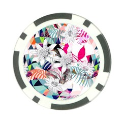 Flower Graphic Pattern Floral Poker Chip Card Guard (10 Pack)