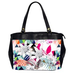 Flower Graphic Pattern Floral Office Handbags (2 Sides)