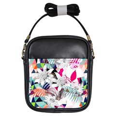 Flower Graphic Pattern Floral Girls Sling Bags