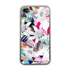 Flower Graphic Pattern Floral Apple Iphone 4 Case (clear)