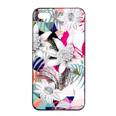 Flower Graphic Pattern Floral Apple Iphone 4/4s Seamless Case (black)