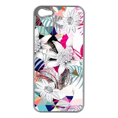 Flower Graphic Pattern Floral Apple Iphone 5 Case (silver)