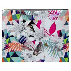 Flower Graphic Pattern Floral Cosmetic Bag (xxxl)
