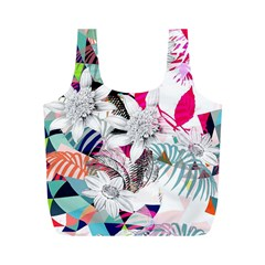 Flower Graphic Pattern Floral Full Print Recycle Bags (m)