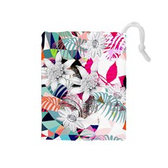 Flower Graphic Pattern Floral Drawstring Pouches (medium)