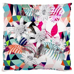 Flower Graphic Pattern Floral Large Flano Cushion Case (one Side)