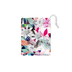 Flower Graphic Pattern Floral Drawstring Pouches (xs)