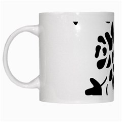 Flower Rose Black Sexy White Mugs
