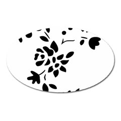 Flower Rose Black Sexy Oval Magnet
