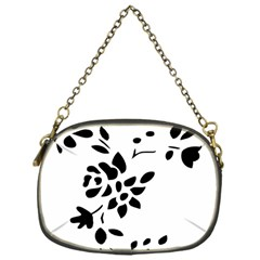 Flower Rose Black Sexy Chain Purses (one Side)