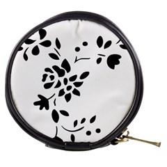 Flower Rose Black Sexy Mini Makeup Bags