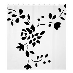 Flower Rose Black Sexy Shower Curtain 66  X 72  (large)
